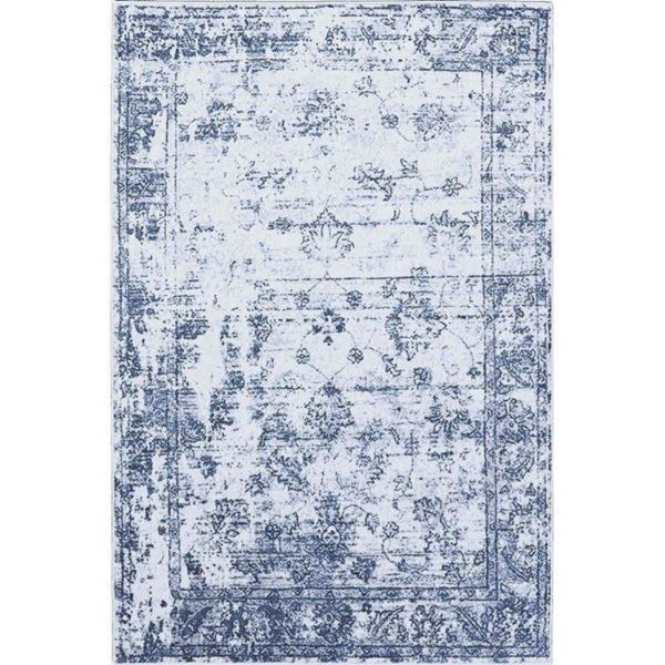 Distressed Vintage Blue Rug - Eclectic Rugs   Cozy Rugs Chicago