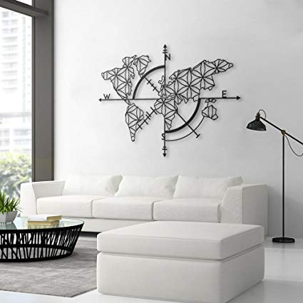 Amazon.com: Bekata Map of Life, Metal Wall Art, World Map and