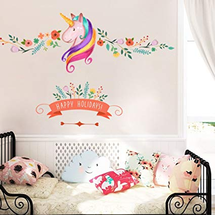 Amazon.com: Unicorn Wall Decor Sticker Decals Girls Bedroom Wall