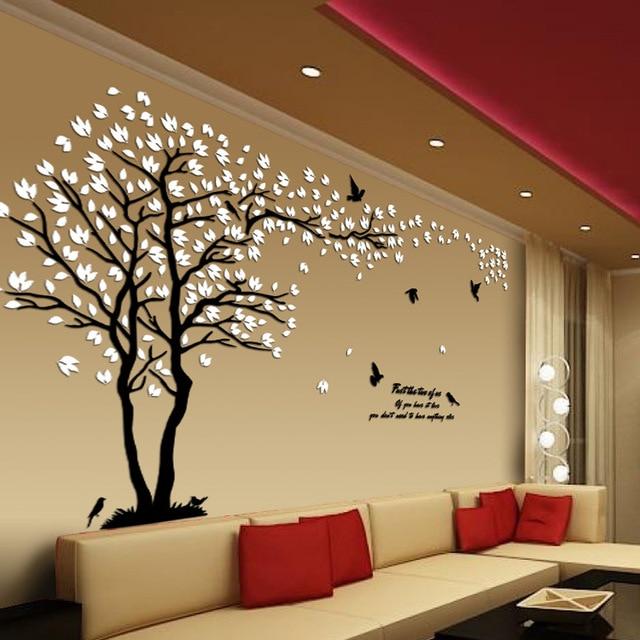 New arrival Lovers tree Acrylic crystal wall stickers DIY art wall