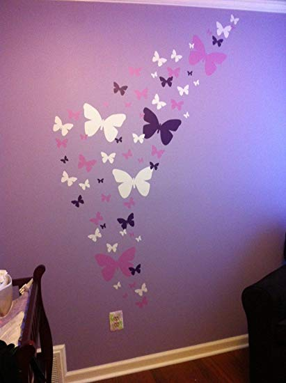 Butterfly Wall Decals- Girls Wall Stickers ~ Decorative Peel & Stick