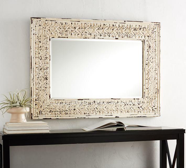 Tehama Wood Wall Mirror | Pottery Barn