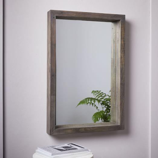 Emmerson® Modern Reclaimed Wood Wall Mirror   west elm