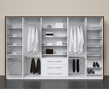 Wardrobe Interiors to accommodate clothes and handbags
