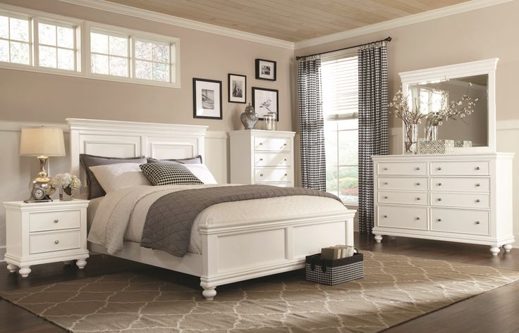 Clearance White 4 Piece Queen Bedroom Set - Essex | Bedroom