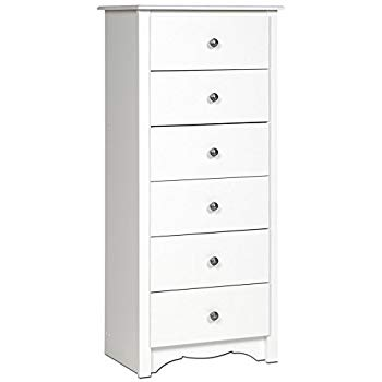 Amazon.com: White Monterey Tall 6 Drawer Chest: Kitchen & Dining