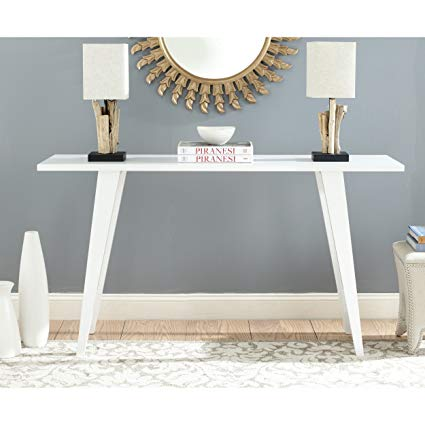 Amazon.com: Safavieh Home Collection Manny Mid-Century White Lacquer