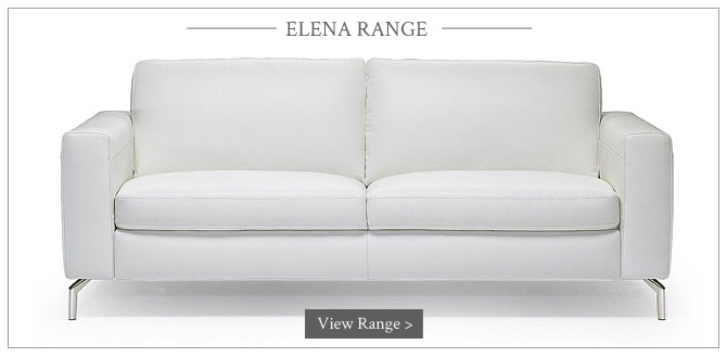 Stylish White Leather Sofas at Darlings of Chelsea
