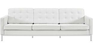 Modern & Contemporary Modern White Leather Sofa | AllModern
