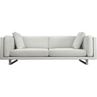Modern & Contemporary Modern White Leather Sofa | AllModern
