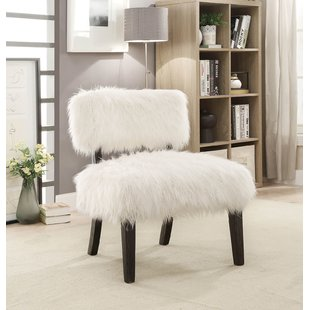Fur White Accent Chairs You'll Love   Wayfair