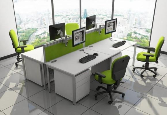 White Range Office Desks u2013 White Desking u2013 White Desk - JS