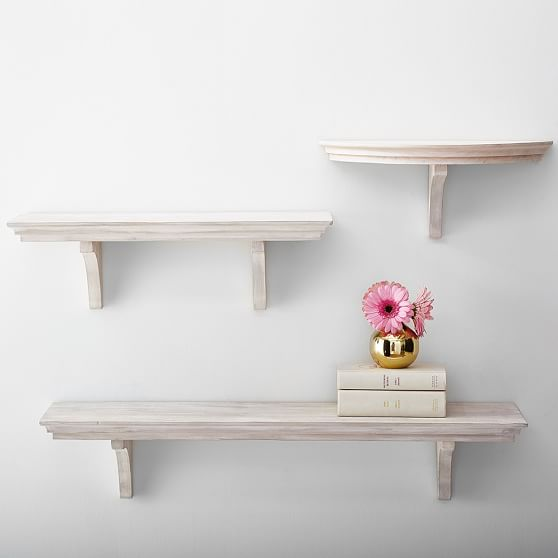 Simple Shelves, Aged White | PBteen