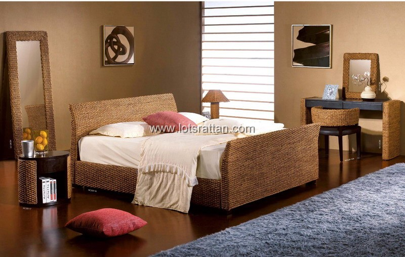 Rattan Bedroom Furnitures Sets Beds Nightstand Within Furniture