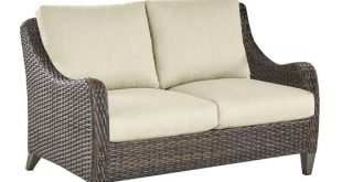 Abrego All-Weather Wicker Loveseat | Pottery Barn