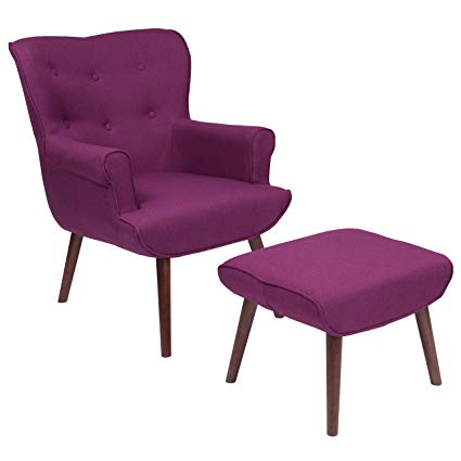 Amazon.com: Flash Furniture Bayton Upholstered Wingback Chair with