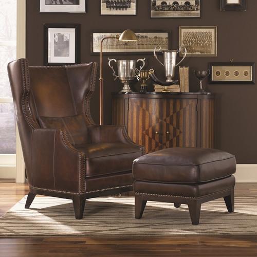 Loon Peak Martin Hill Wingback Chair and Ottoman - Walmart.com