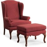 Living room seating – wingback   chair with ottoman