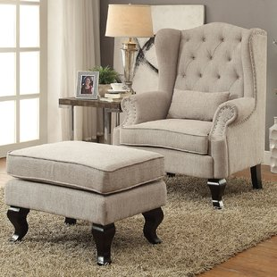 Ottoman Included Wingback Accent Chairs You'll Love | Wayfair