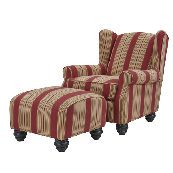 Brougham Wingback Chair and Ottoman & Reviews | Joss & Main