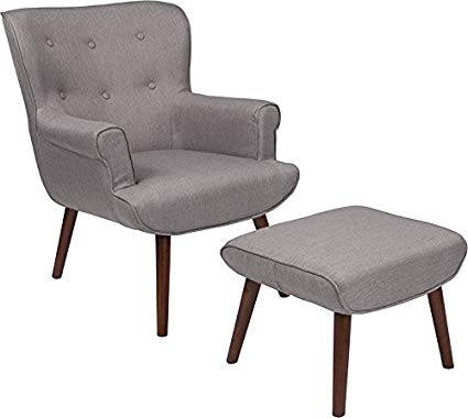 Amazon.com: Mid-Century Style Upholstered Wingback Chair with