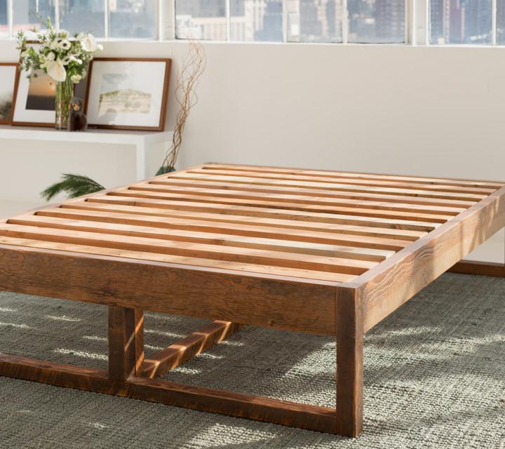 Reclaimed Eco Wood Bed Frame | Avocado Green Mattress®