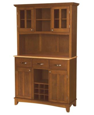 Home Styles Buffet of Buffet with Wood Top and Hutch - Furniture