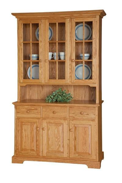 Three Door Buffet with Hutch Top from DutchCrafters Amish Furniture