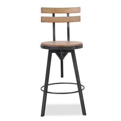 Fenix Wooden Barstool Antique White - Christopher Knight Home : Target