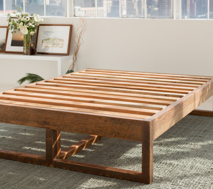 Reclaimed Eco Wood Bed Frame   Avocado Green Mattress®