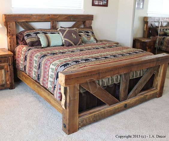 homemade wooden bed frames - Google Search | jerrys | Bed Frame