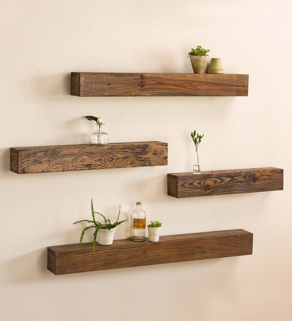 Rustic Wooden Shelf / Wood Floating Shelves - Walmart.com
