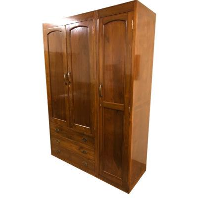 WB111 TEAKWOOD 3 DOOR WARDROBE Details | BIC Furniture India