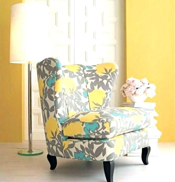 Yellow Accent Chair Yellow Fabric And Wood Cushioned Arm Chair