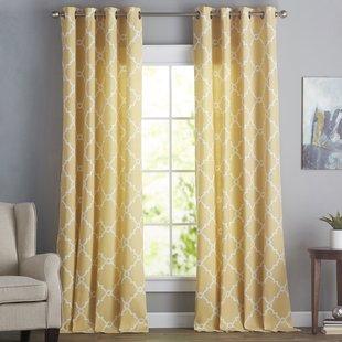 Yellow & Gold Curtains & Drapes You'll Love | Wayfair