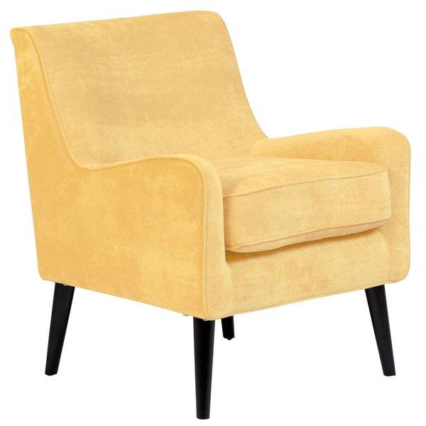 Shop Porter Designs Kristina Yellow Upholstered Wood Frame Modern