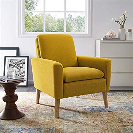 Amazon.com: Lohoms Modern Accent Fabric Chair Single Sofa Comfy