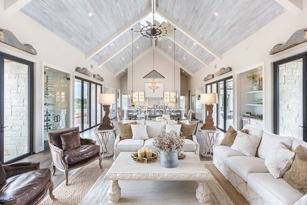 Vineyard-Farmhouse-by-Michelle-Thomas-Design What is the standard ceiling height for a house?  (Replied)
