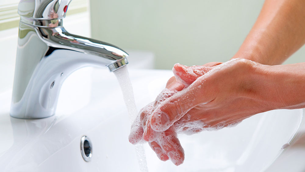 Wash hands How to remove spray paint easily from the skin