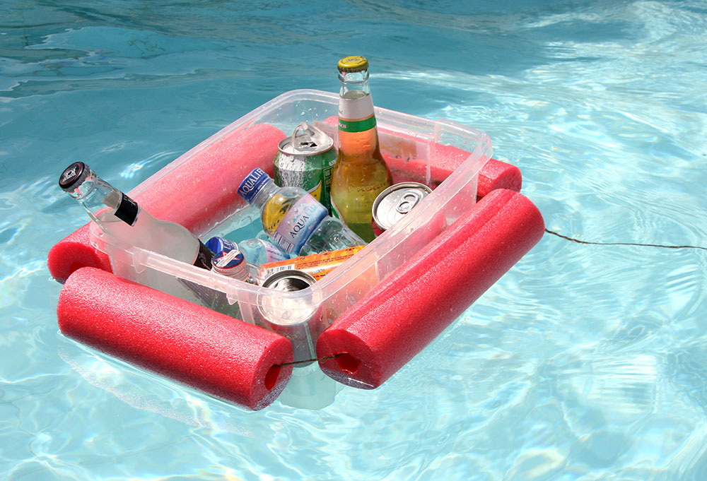 Don't leave the pool for drinks Pool noodle hacks to make your life easier