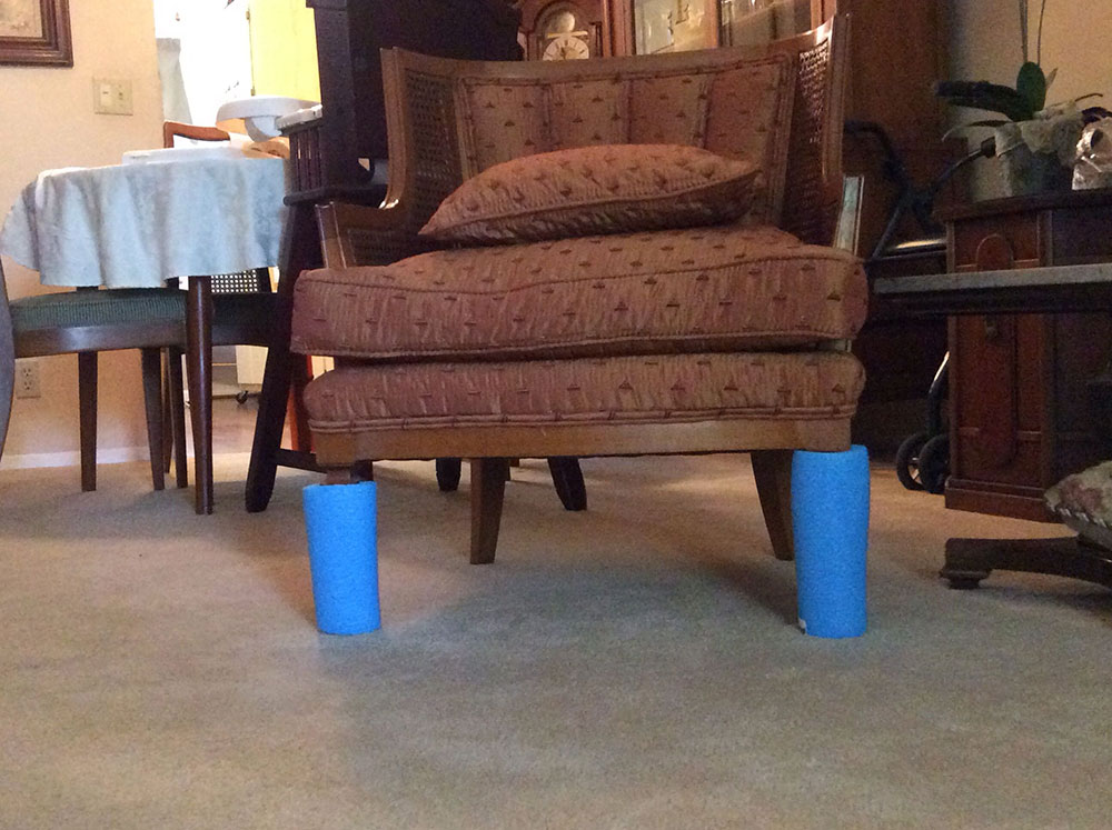 Furniture legs pool noodle hacks to make your life easier