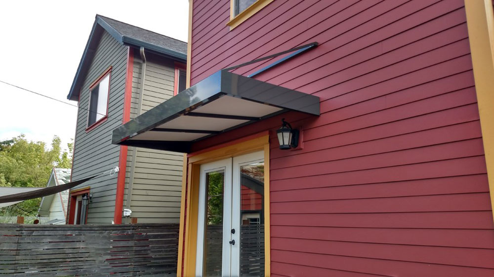 Modern-Door-Awning-by-Pike-Awning-Company The only guide to painting aluminum siding that you need