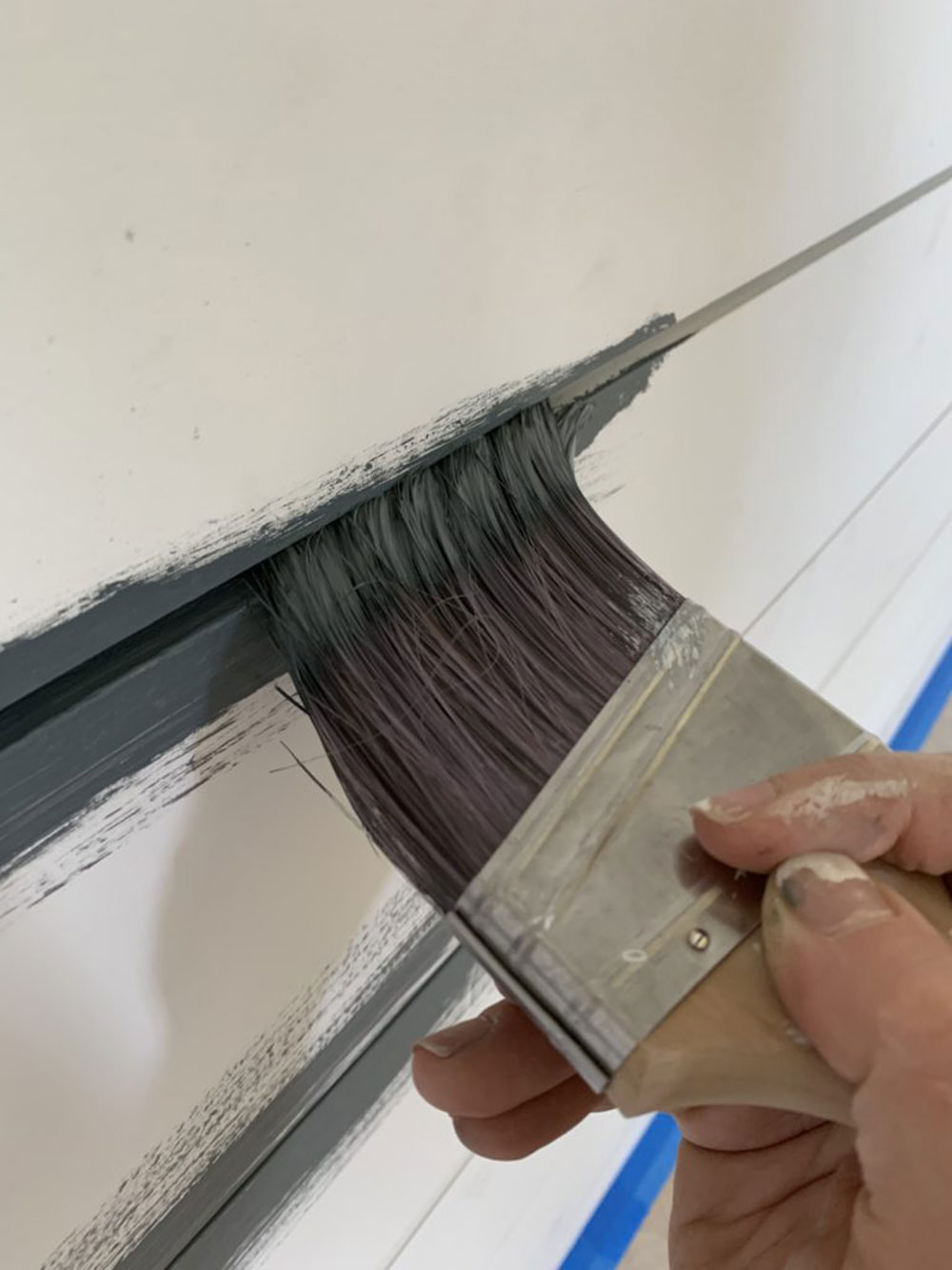Brush paint Should you put Shiplap over drywall?