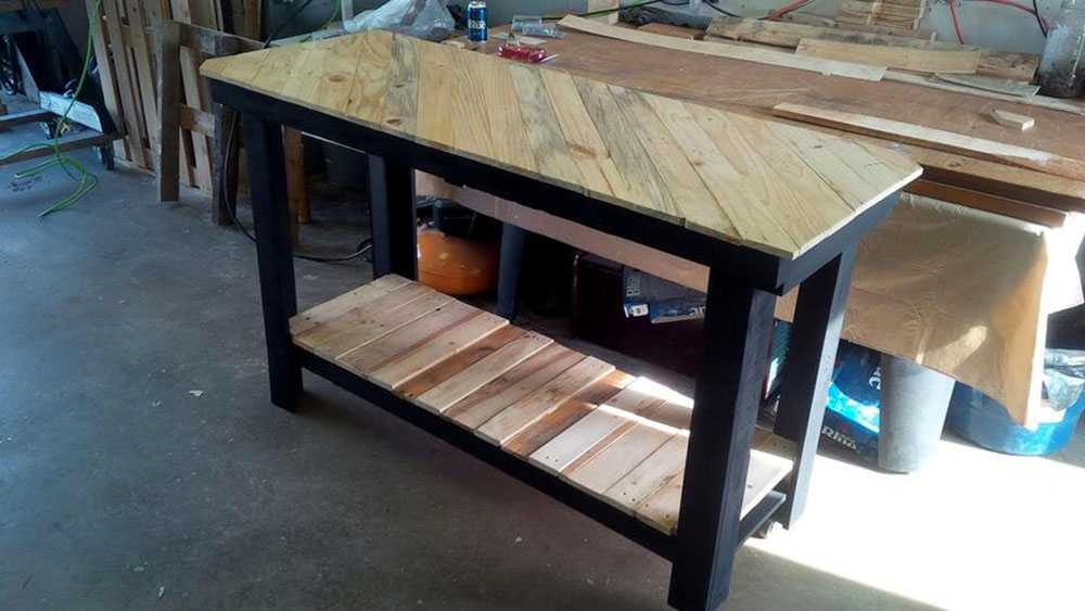 Patterned-Top-Kitchen-Island How to Build a Kitchen Island (17 DIY Kitchen Island Plans)