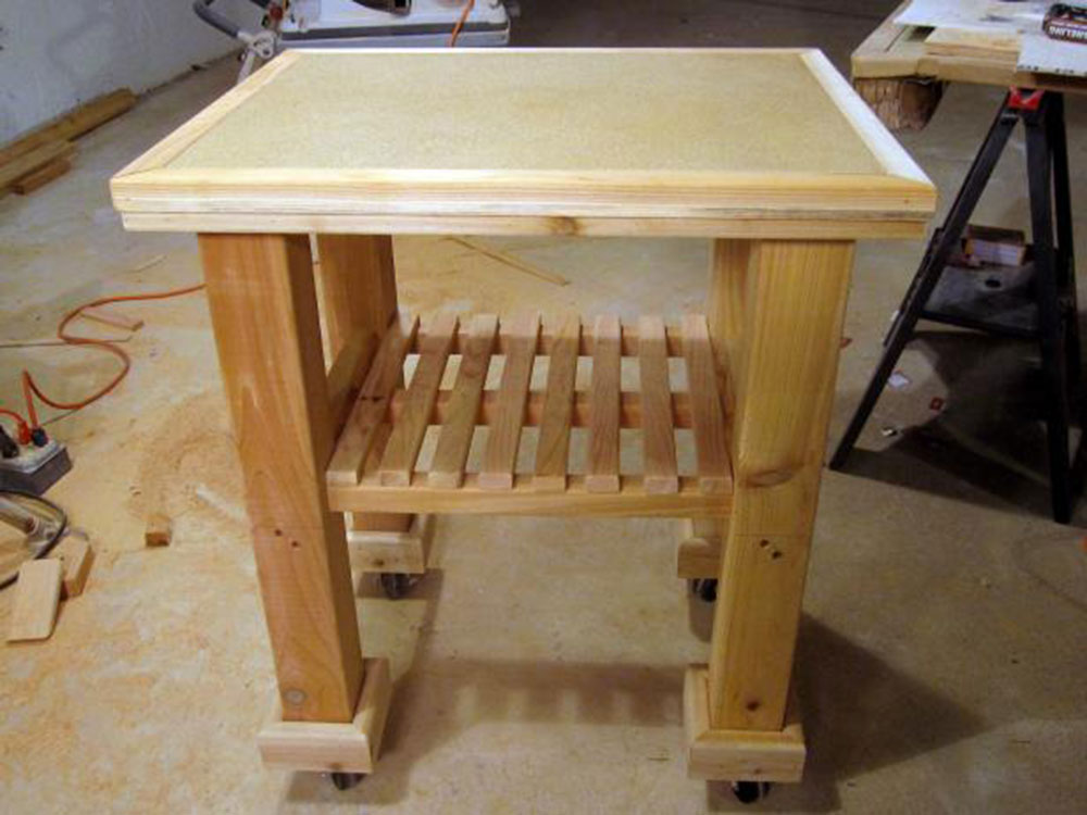 Small-Kitchen-Cart-1 How to Build a Kitchen Island (17 DIY Kitchen Island Plans)