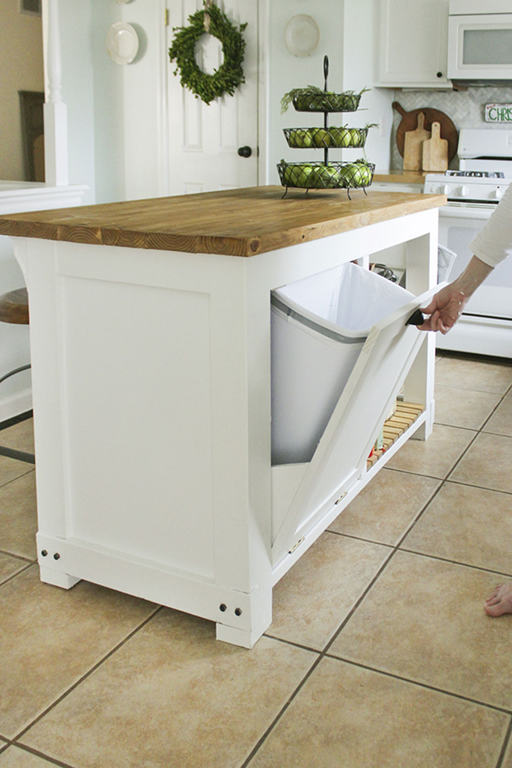 Built-in Trash Storage Island How To Build A Kitchen Island (17 Plans For DIY Kitchen Islands)