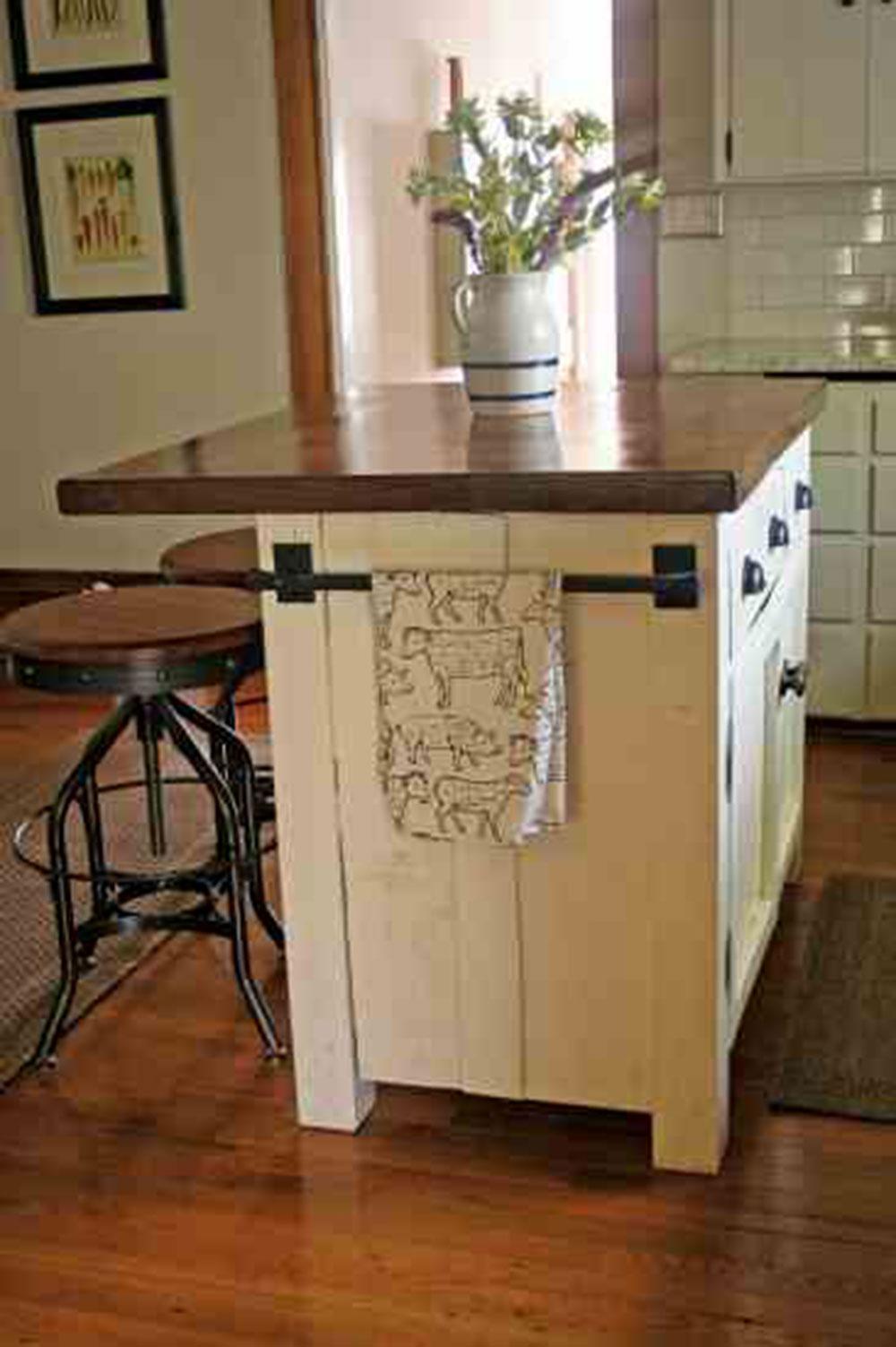 Ikea-Farmhouse-Kitchen-Island How to Build a Kitchen Island (17 DIY Kitchen Island Plans)