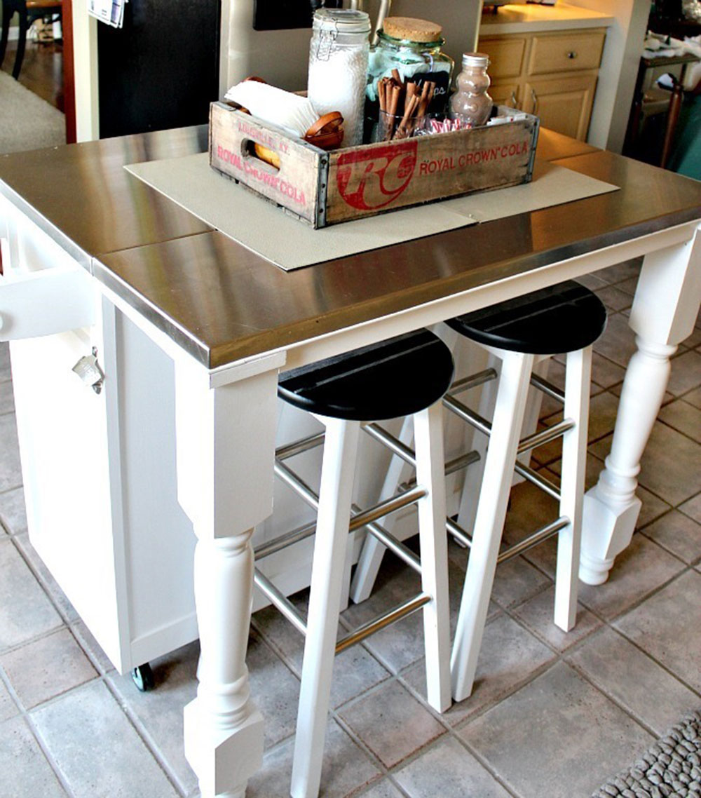 Homemade-Legs-For-Your-Kitchen-Island How to build a kitchen island (17 DIY kitchen island plans)