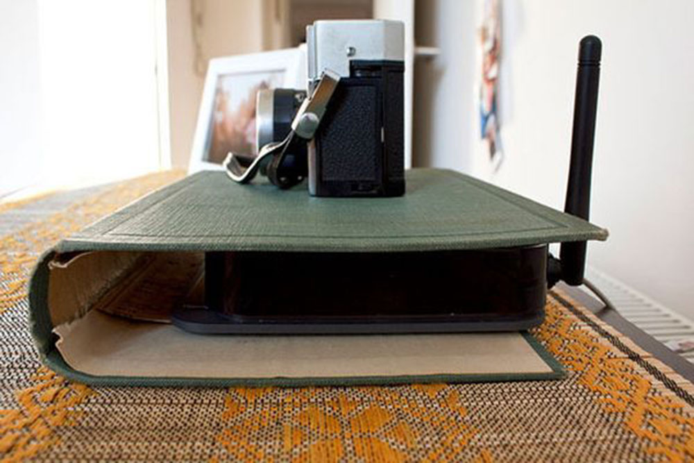 Stash-Wires-in-a-Book How To Hide Power Cables In The Living Room (Quick Tips)