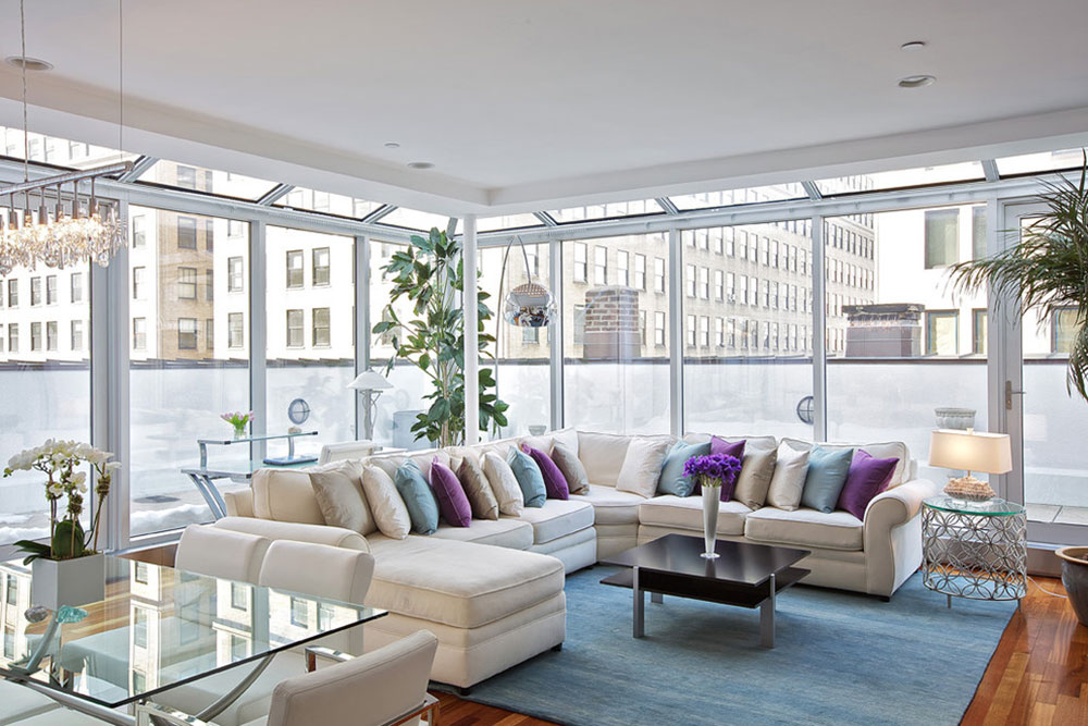 Tribeca-Penthouse-Living-Room-by-Marie-Burgos-Design How to put a carpet in a living room so that the place looks fantastic